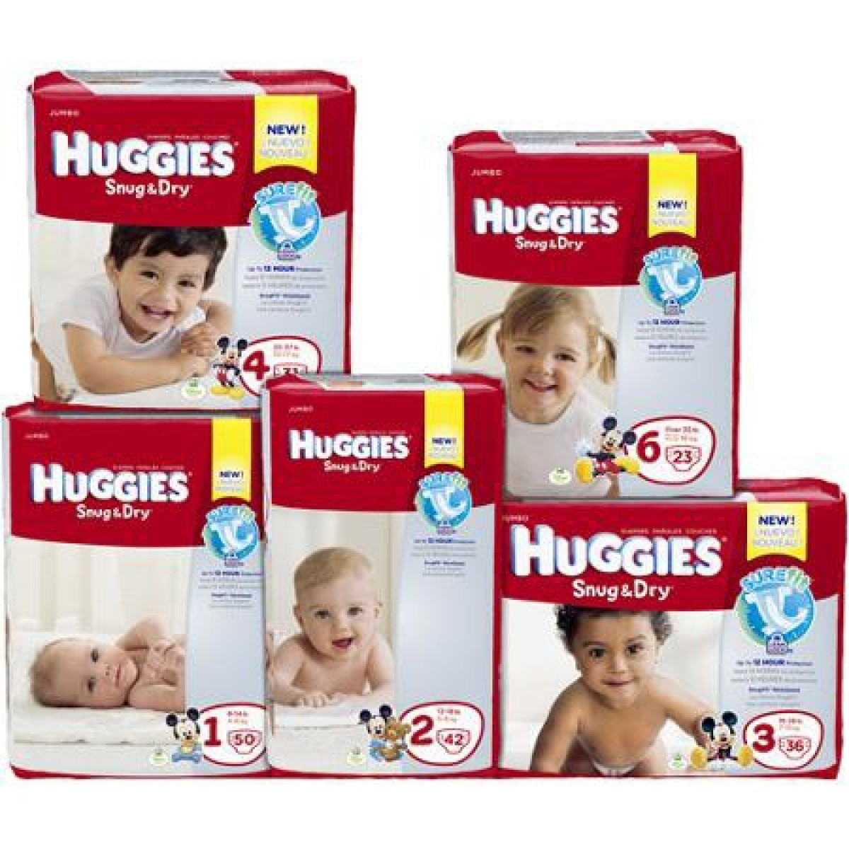 Snug & Dry Tab Closure Baby Diaper Heavy Absorbency Size 3 - 36431