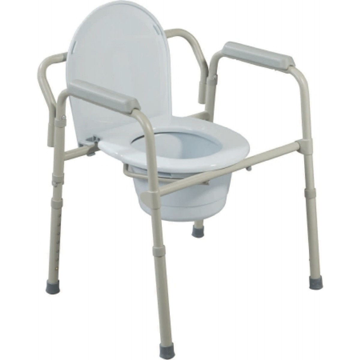 Folding Steel Commode 16.5 to 22.5 Inch - 11148N-4