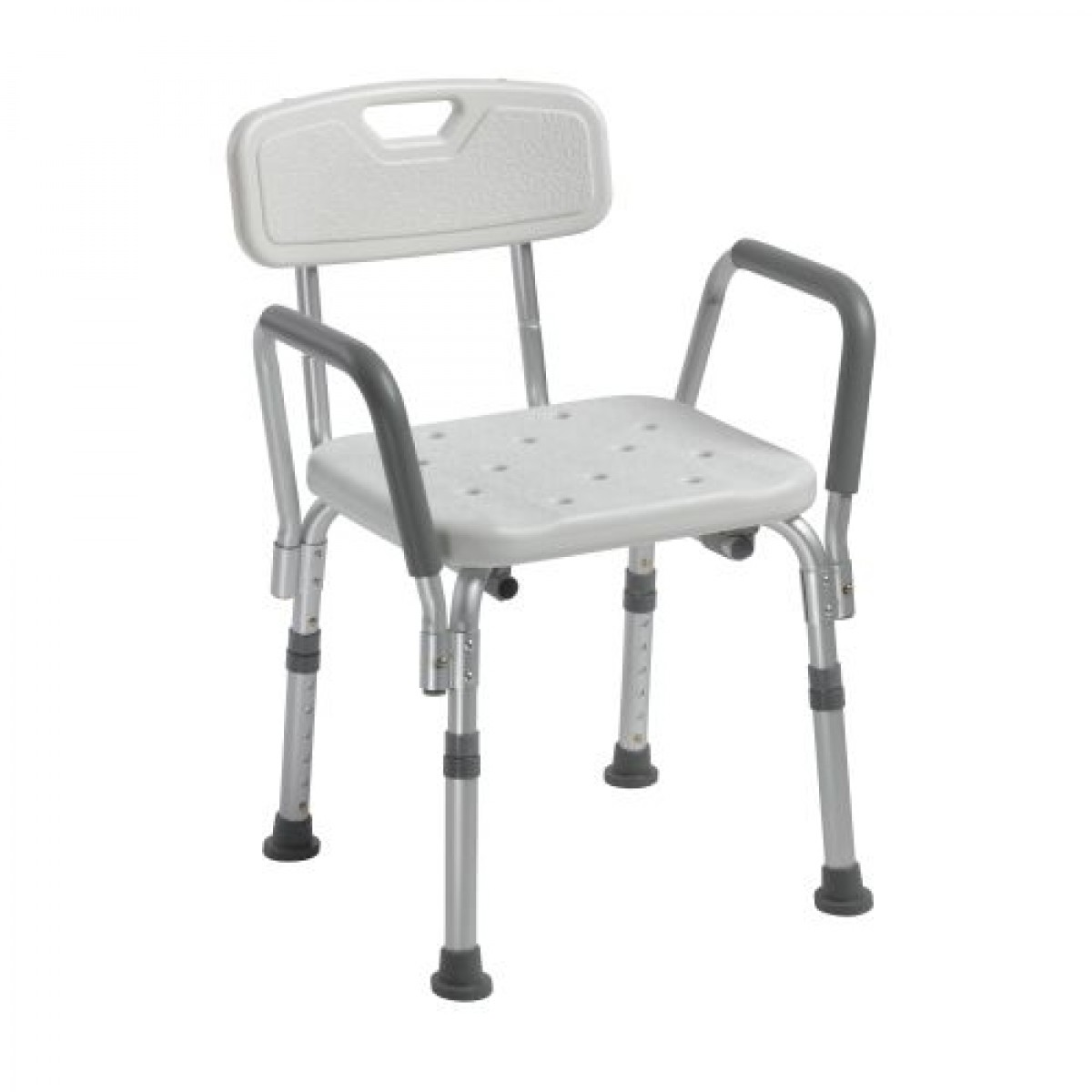 Knock Down Bath Bench With Back And Padded Arms By Drive Medical 12445kd 1