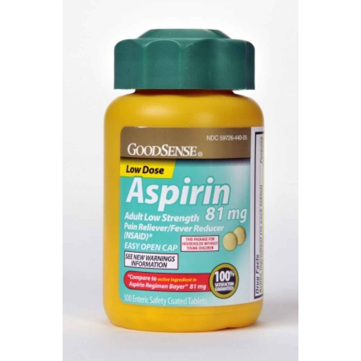 Home aspirin tablet 81 mg 500 count pld00355