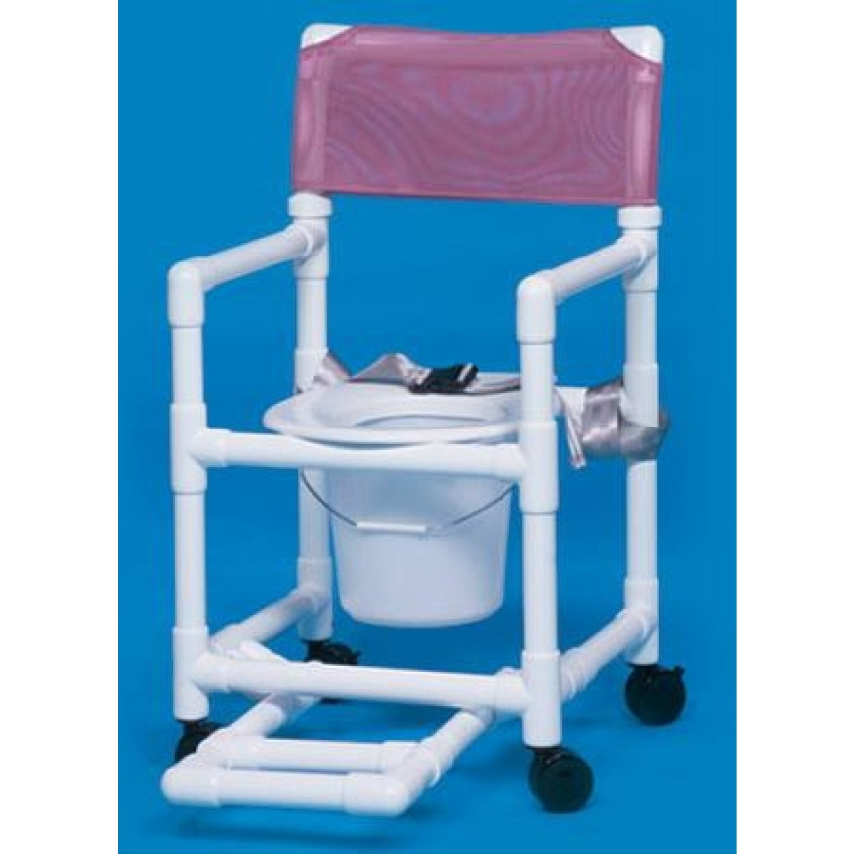 Standard Line Shower Chair / Commode With Footrest, Seatbelt and ...