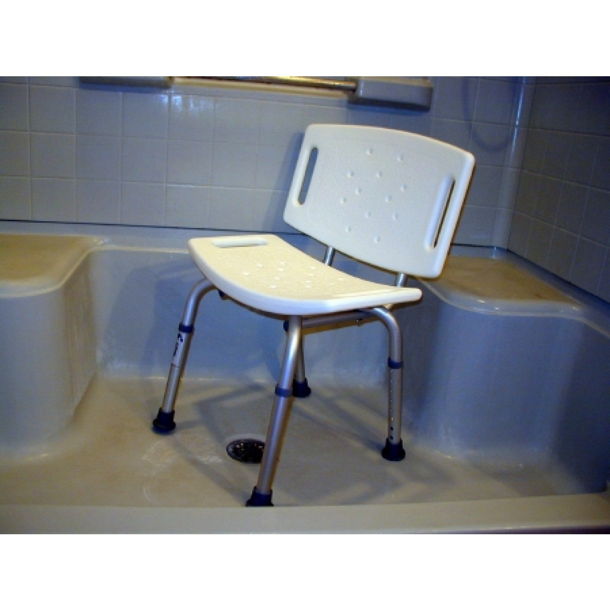 sunmark Econo Shower Safety Chair Push-button - 114-4435