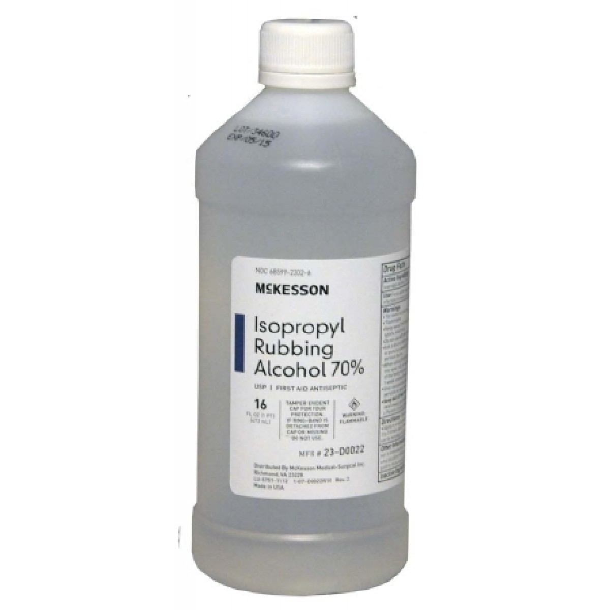 Mckesson Isopropyl Rubbing Alcohol 23 D0022