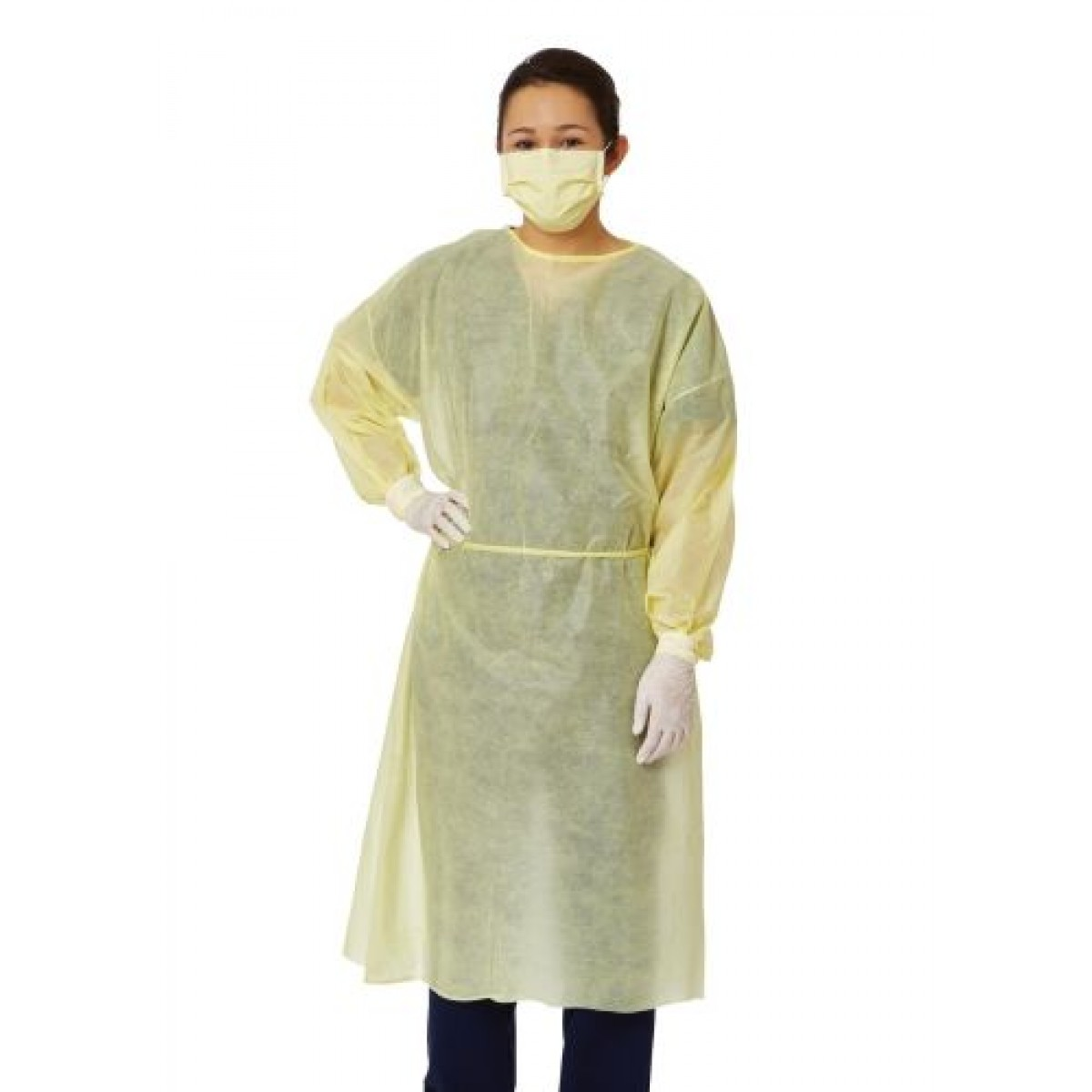 Medium Weight Multi-Ply Fluid Resistant Isolation Gown - NON27SMS2