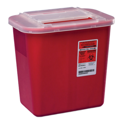 1 Gallon Red Sharps-A-Gator Sharps Collector with Slide Lid 31143699