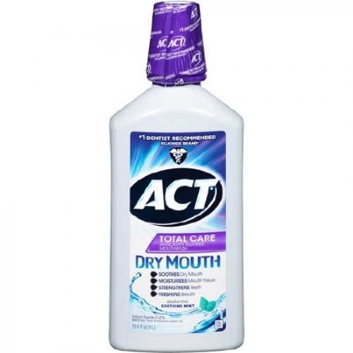 Act Mouthwash Dry Mouth >> Act Moisturizing Mouthwash 18 oz. - 09680-2