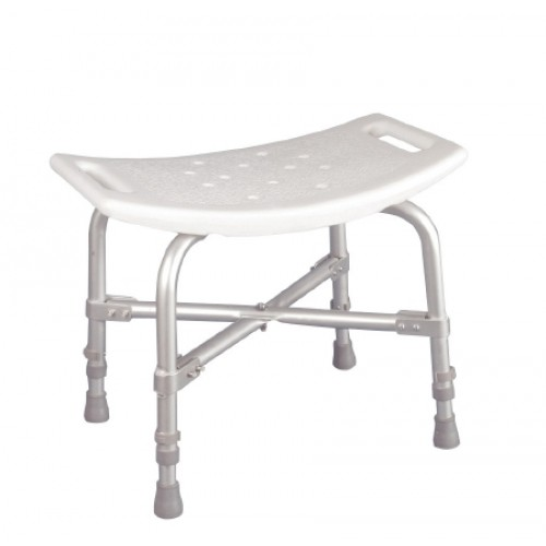 Deluxe Bariatric Plastic Shower Chair without Back White