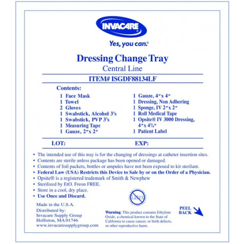 Invacare central line dressing change kit with opsite on for Photo dressing change