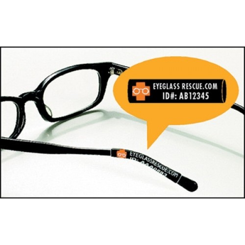 Rimless Glasses Compression Sleeves : Identification and Protection Eyeglass Sleeves - 1000