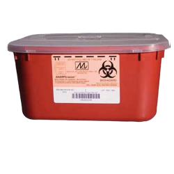 1 Gallon Red Stackable Sharps Collector with Biohazard Symbol 8703