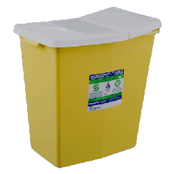 8 Gallon Sharpsafety Chemotherapy Container with Hinged Lid