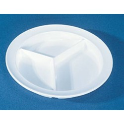Partitioned Plate 8 3/4 Inch Diameter - 8128