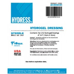 Hydress Hydrogel Dressing 4 X 4 Inch - 10-AB-400400-001