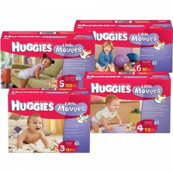 Huggies Little Movers Tab Closure Baby Diaper Heavy Absorbency Size 6 - 40766