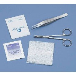 Suture Removal Kit with Iris Suture Scissors and Adson Serrated Forceps