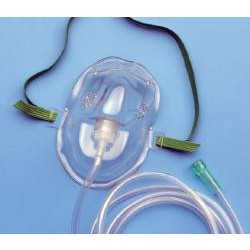 AirLife Medium Concentration Vinyl Oxygen Mask Medium, Clear Medium - 1200