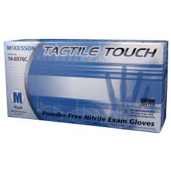 Tactile Touch Nitrile Exam Gloves Blue Textured Fingertips Chemo Rated Powder Free -NonSterile