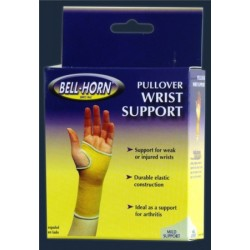 """Bell-Horn Elastic Pullover Wrist Support, Small 5-1/2"""" - 6-1/2'' Wrist Circumference, Beige Small - 180S"""
