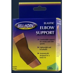 "Bell-Horn Elastic Elbow Support, Large, 10"" - 11"" Elbow, Beige Large - 195L"