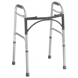 Deluxe Junior Two Button Folding Walker 25 to 32 Inch - 10201-4