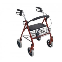 Four Wheel Walker Rollator with Fold Up Removable Back Support by Drive Medical - 10257RD-1