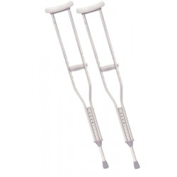 """Aluminum Crutches, Latex Free, Fits Adults 5'2""""-5'10"""" 45 to 53 Inch - 10400-8"""
