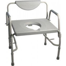 Deluxe Bariatric Drop-Arm Commode, Assembled, Grey 23 Inch - 11135-1