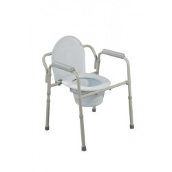 Folding Steel Bedside Commode 16-1/2 to 22-1/2 Inch - 11148-1