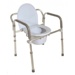 Folding Commode 14 1/2 to 22 1/4 Inch - 11149-4