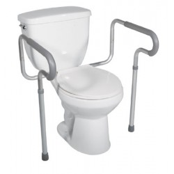 Assembled Toilet Safety Frame with Adjustable Arms, Aluminum 25.5 - 29.5 Inch - 12001-4