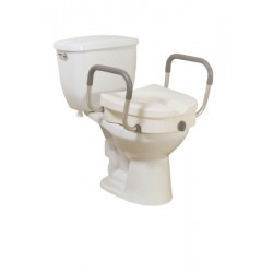 Raised Toilet Seat With Arms 5 Inch - 12008KDR