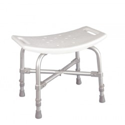Deluxe Bariatric Plastic Shower Chair without Back, White - 12022-4