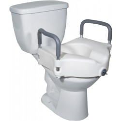 Raised Toilet Seat With Arms 5 Inch - 12027RA-4BULK