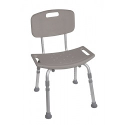 KD Aluminum Bath Bench with Back By Drive Medical - 12202KD-4