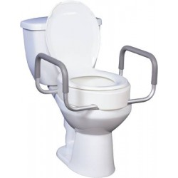 Raised Toilet Seat With Arms 3-1/2 Inch - 12402
