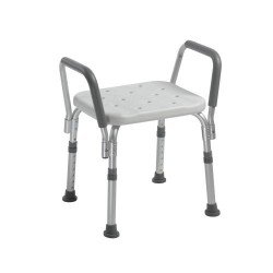 Knock Down Bath Bench with Padded Arms by Drive Medical - 12440KD-1