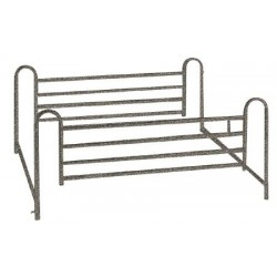 Deluxe Full Length Hospital Bed Side Rail, Brown Vein - 15001ABV