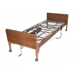 Delta Ultra Light Semi-Electric Bed with Half Rails 15 to 24 Inch - 15030BV-PKG-1