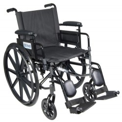 Cirrus IV Lightweight Dual Axle Wheelchair with Adjustable Arms by Drive Medical - C416ADDASV-ELR