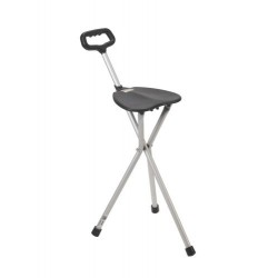 Cane Seat Folding ADJUSTABLE HEIGHT Deluxe Lightweight