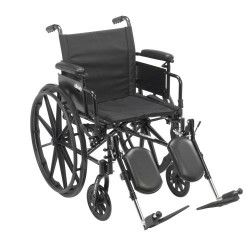 Cruiser X4 Lightweight Dual Axle Wheelchair with Adjustable Detatchable Arms by Drive Medical - CX416ADDA-ELR