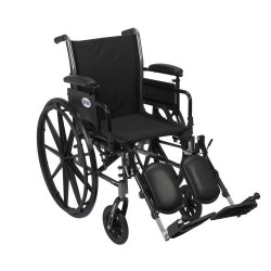 Cruiser III Light Weight Wheelchair with Flip Back Removable Arms by Drive Medical - K316ADDA-ELR