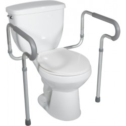 Toilet Safety Frame with Padded Armrests by Drive Medical - RTL12000