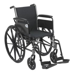 Cruiser III Light Weight Wheelchair with Flip Back Removable Arms by Drive Medical - K316DFA-SF