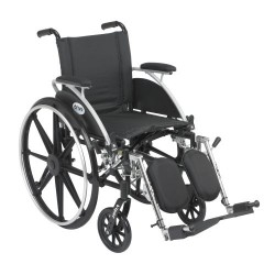 Viper Wheelchair with Flip Back Removable Arms by Drive Medical - L412DDA-ELR