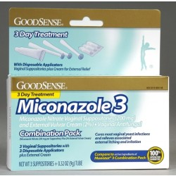 Miconazole 3 Combination Pack, Suppositories with Applicators and Cream - LP13881