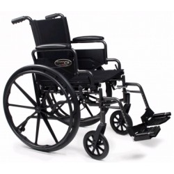 "Traveler L4 Folding Wheelchair with Swingaway Footrest, 18"" x 16"" Seat 18 or 20 Inch - 3F020120"