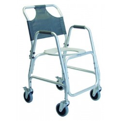 Shower Transport Commode Chair with Footrest 22 Inch - 7915A-1