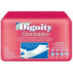 Dignity Stackables Bladder Control Pad Light Absorbency 12 Inch Length - 30053-180