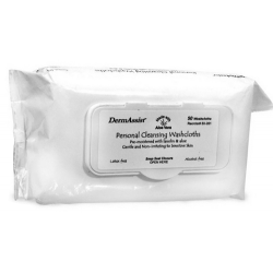 DermAssist Personal Cleansing Washcloths Pre-Moistened with Lanolin & Aloe